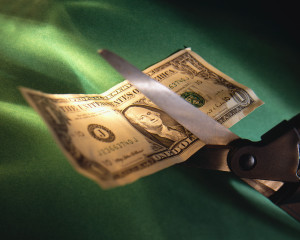 Cutting a One Dollar Bill with a Scissors